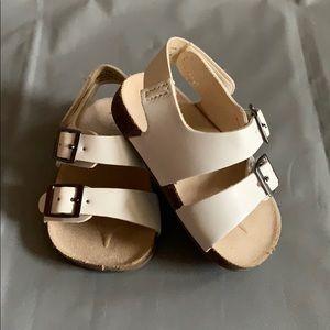 Old Navy White Sandals 3-6 Months